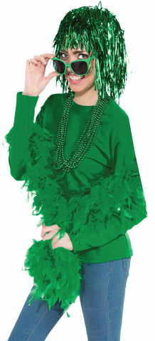 St Patricks Day Wig Green Tinsel Wigs