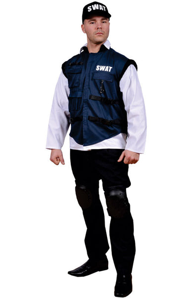 Men SWAT Officer Costume