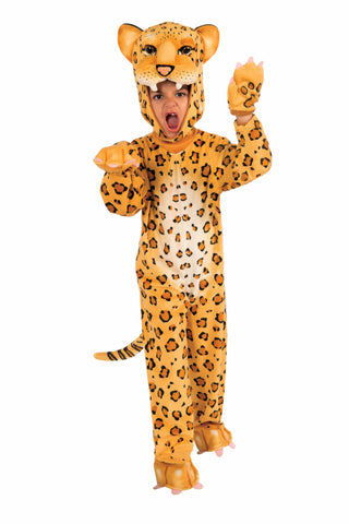Boys Plush Leopard Costume