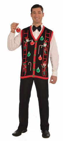 Adults Decorating Elves Christmas Vest