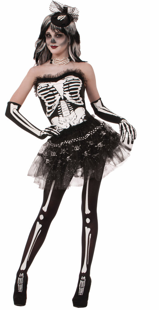 Womens Skeleton Bones Tutu
