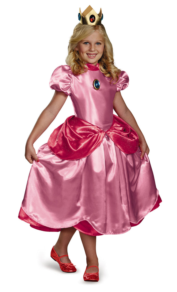 Girls Nintendo Deluxe Princess Peach Costume