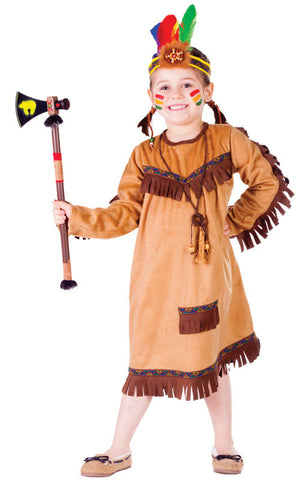Girls Brave Indian Costume