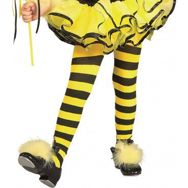 Girls Bumble Bee Tights