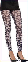 Black and White Skull Tights