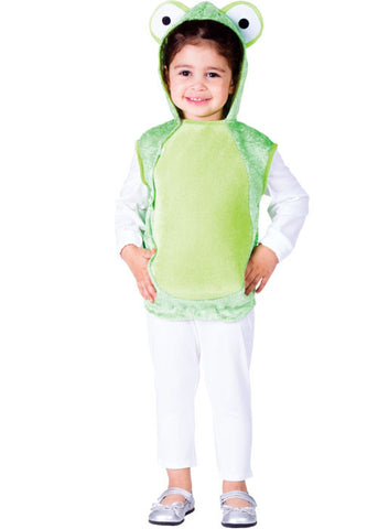 Girls Green Frog Costume