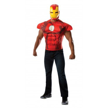 Mens Iron Man Muscle Chest Shirt