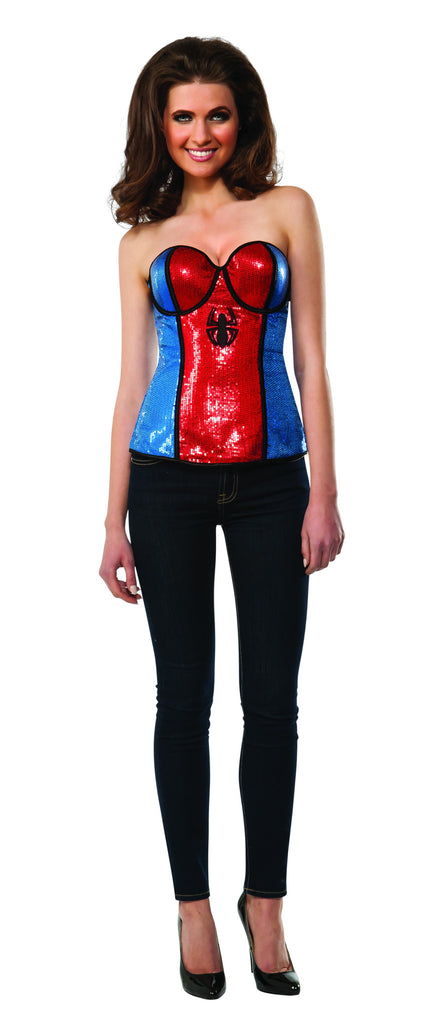 Womens Spider-Girl Sequined Corset