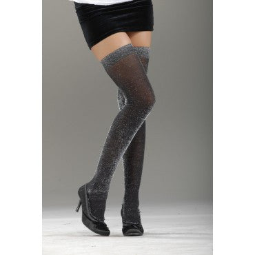 Black Glitter Stockings