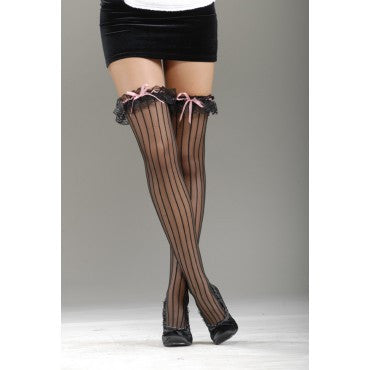 Garter Striped Thigh Highs