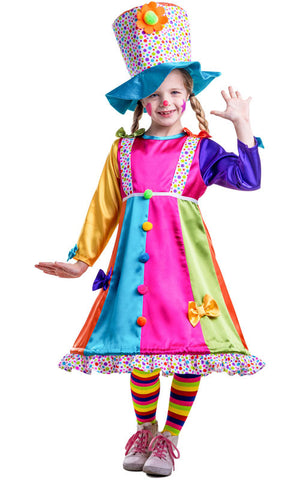 Girls Polka Dot Clown Costume