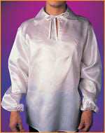 Adults V-Neck Satin Shirt
