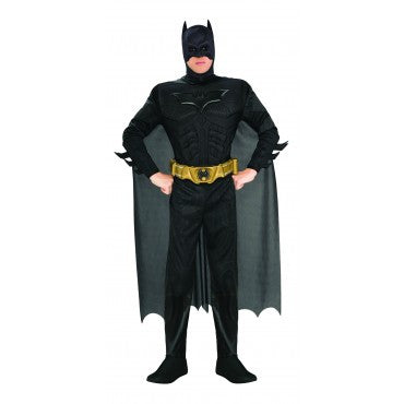 Mens Deluxe Batman Muscle Chest Costume