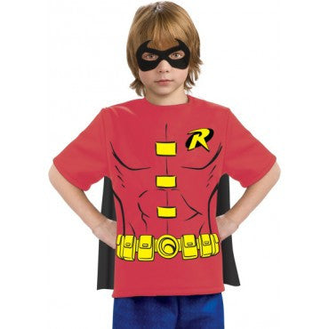 Boys Justice League Robin Costume Shirt