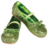 Kids Green Glitter Shoes