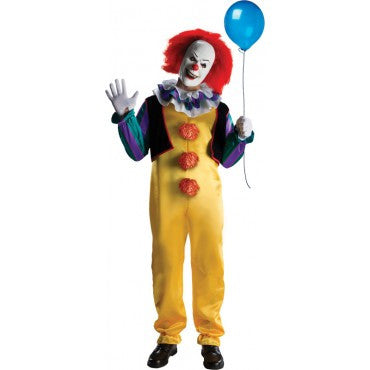 Mens Stephen King's It Pennywise Clown Costume