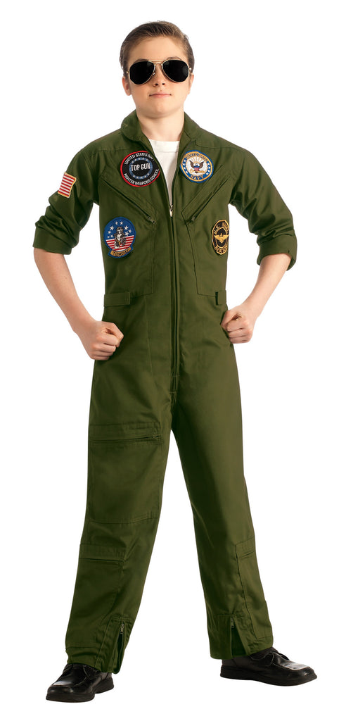 Boys Top Gun Jumpsuit Costume