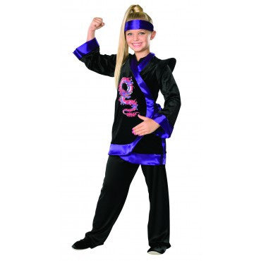 Girls Purple Dragon Ninja Costume