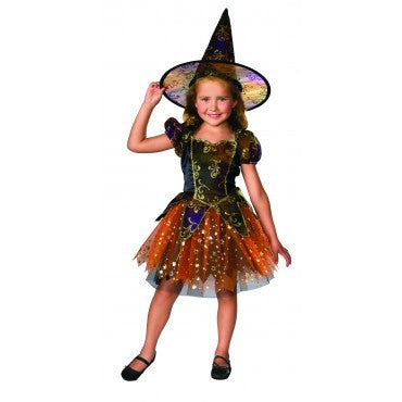 Girls Elegant Star Witch Costume