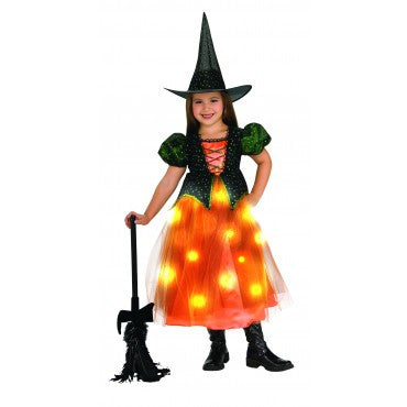 Girls Glowing Twinkle Witch Costume