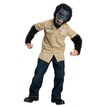 Boys Angry Gorilla Tour Guide Costume