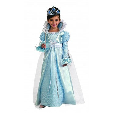 Girls Blue Princess Costume