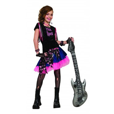 Girls Pink Rock Girl Costume