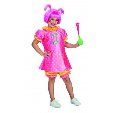 Girls Baby Doll Clown Costume