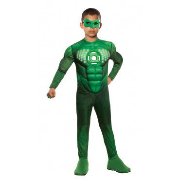 Boys Green Lantern Deluxe Light Up Hal Jordan Costume