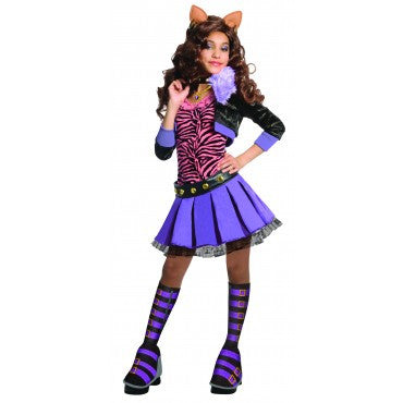 Girls Monster High Deluxe Clawdeen Wolf Costume