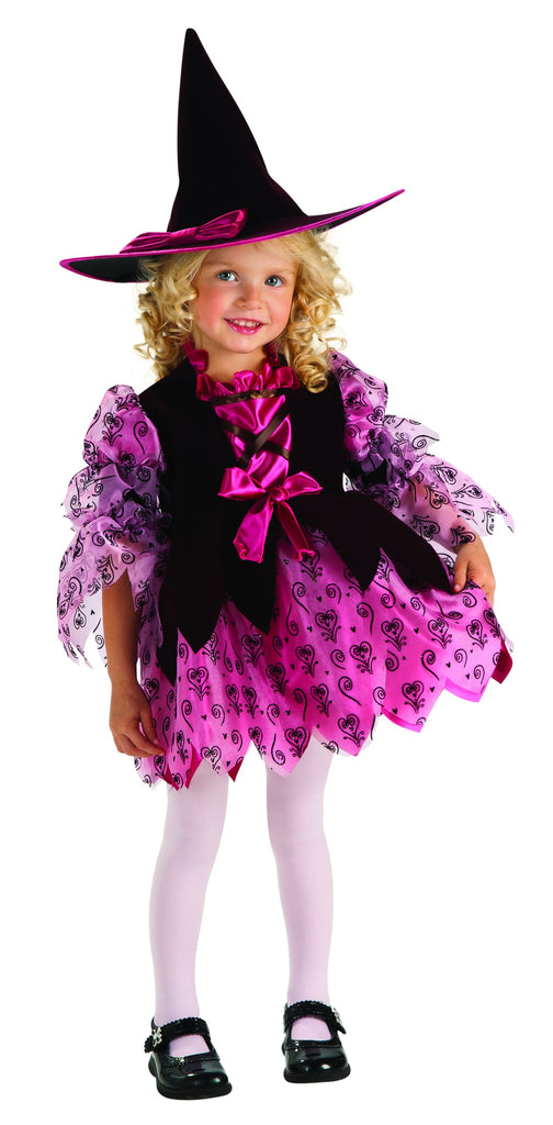 Toddlers Pink Witch Costume