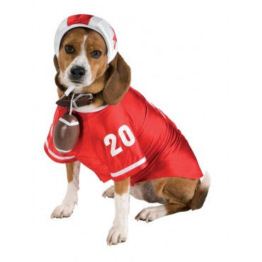 Pets Red Football Player Costume