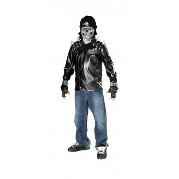 Teens Metal Skull Rider Costume