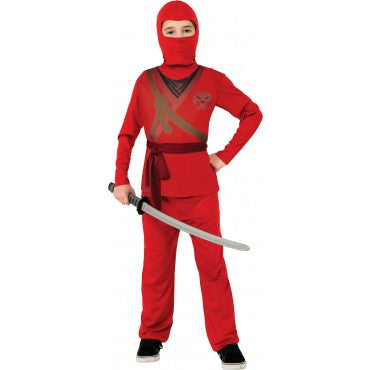Boys Red Ninja Costume