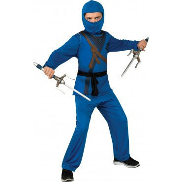 Boys Blue Ninja Costume
