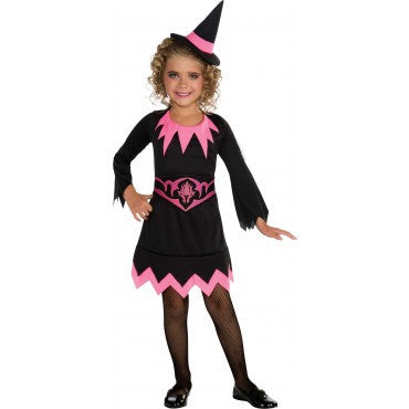 Girls Orange Witch Costume