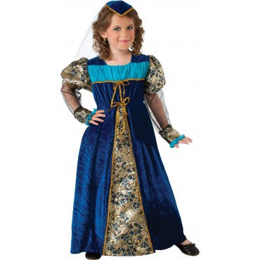 Girls Blue Camelot Princess Costume