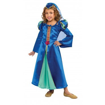 Girls Blue Renaissance Princess Costume