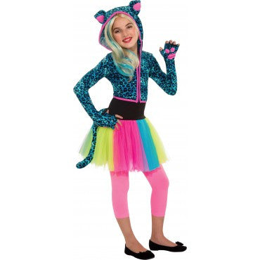 Girls Neon Leopard Costume