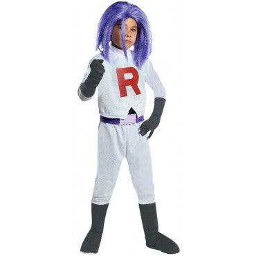 Boys Pokemon Team Rocket James Costume