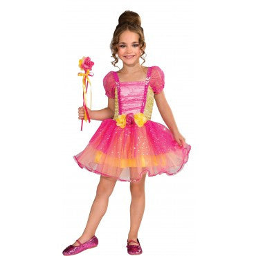 Girls Pink Garden Princess Costume