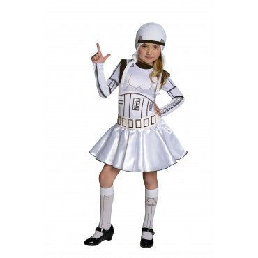 Girls Star Wars Storm Trooper Costume