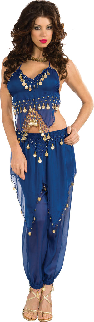Womens Blue Belly Dancer Costume