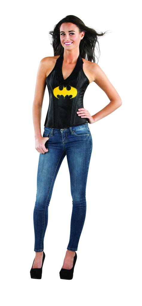 Womens Batman Batgirl Faux Leather Corset