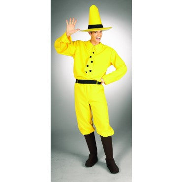 Mens Curious George Man in the Yellow Hat Costume