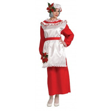 Womens Mrs. Poinsetta Claus Costume