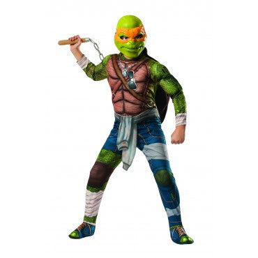 Boys Ninja Turtles Deluxe Michelangelo Costume