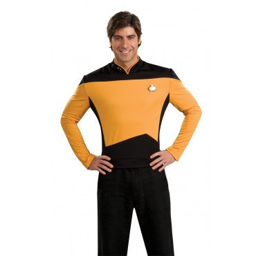 Mens Star Trek Deluxe Gold Shirt Command Uniform