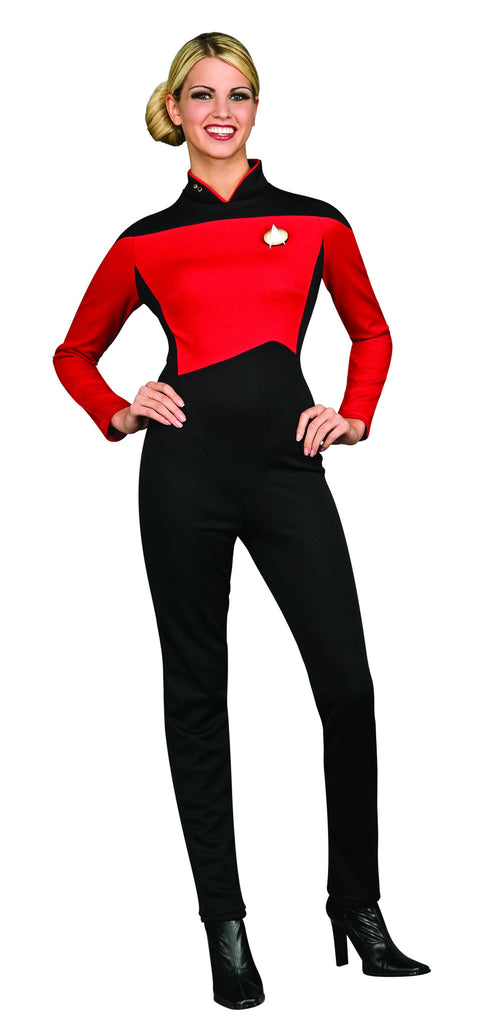 Womens Star Trek Red Jumpsuit Costume