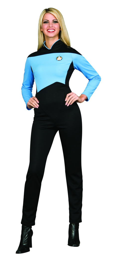 Womens Star Trek Blue Jumpsuit Costume